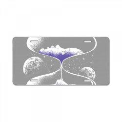 hourglass space, hourglass quote  License Plate | Artistshot