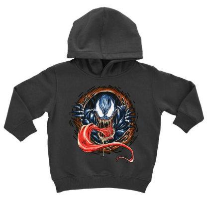 Venom Rise Toddler Hoodie Designed By Pinkanzee
