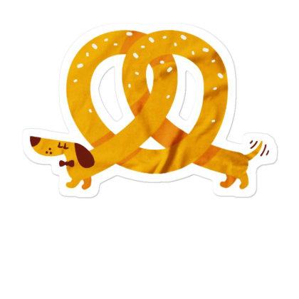 Pretzel Dog Sticker Designed By Pinkanzee