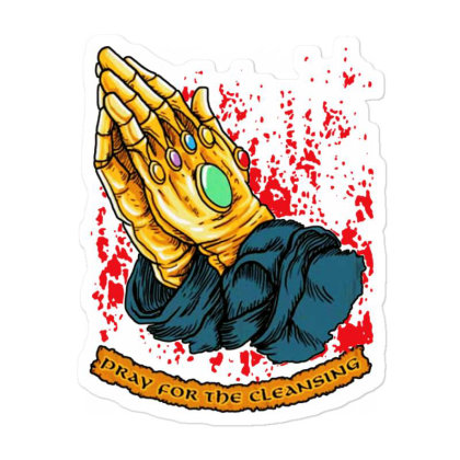 Pray For The Cleansing Sticker Designed By Pinkanzee