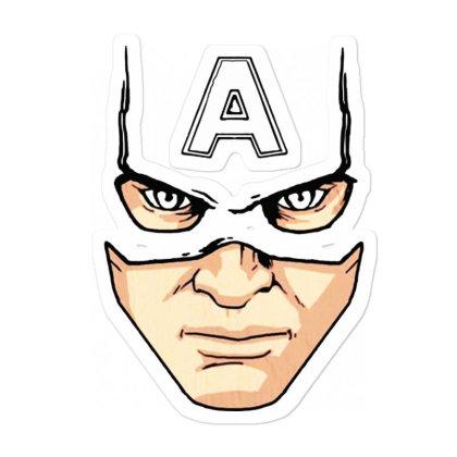 Captain America Mask Sticker Designed By Pinkanzee