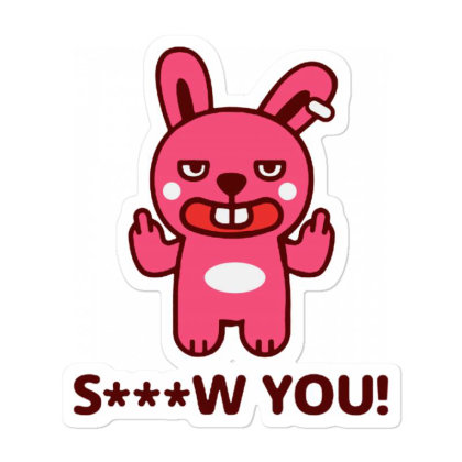 Brat Bunny Rebel Sticker Designed By Pinkanzee