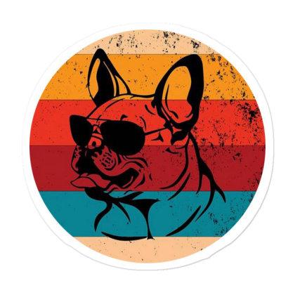 Vintage French Bulldog Lover Retro Dog Sticker Designed By Pinkanzee