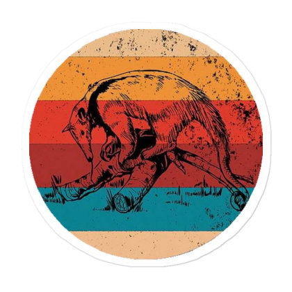 Vintage Anteater Lover Retro Style Silhouette Sticker Designed By Pinkanzee