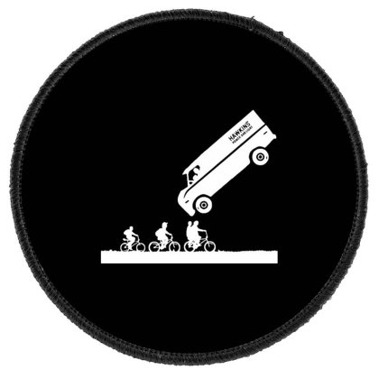 Power And Light Round Patch Designed By Pinkanzee