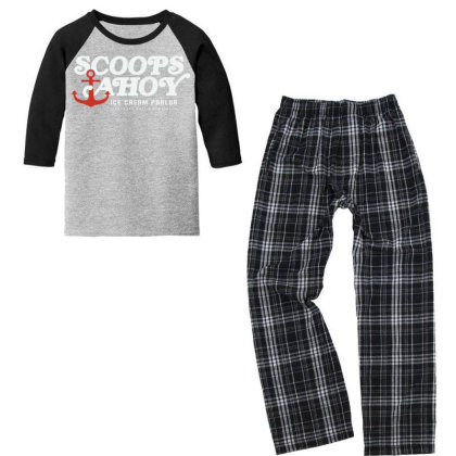 Scoops Ahoy Youth 3/4 Sleeve Pajama Set Designed By Pinkanzee
