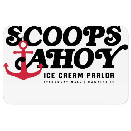 Scoops Ahoy Ice Cream Parlor Atv License Plate Designed By Pinkanzee
