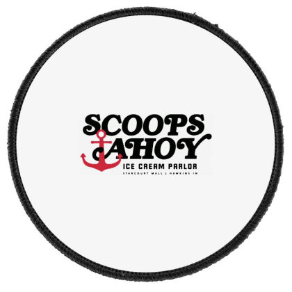 Scoops Ahoy Ice Cream Parlor Round Patch Designed By Pinkanzee