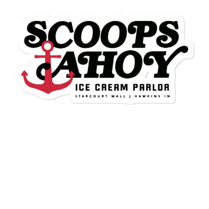 Scoops Ahoy Ice Cream Parlor Sticker Designed By Pinkanzee