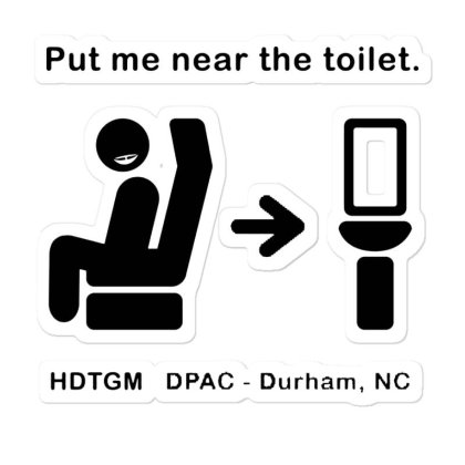 Put Me Near The Toilet Sticker Designed By Pinkanzee