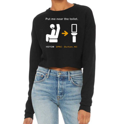 Put Me Near The Toilet Cropped Sweater Designed By Pinkanzee