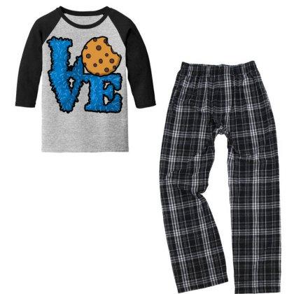 Love Cookies Youth 3/4 Sleeve Pajama Set Designed By Pinkanzee
