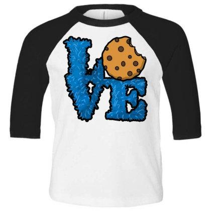 Love Cookies Toddler 3/4 Sleeve Tee Designed By Pinkanzee