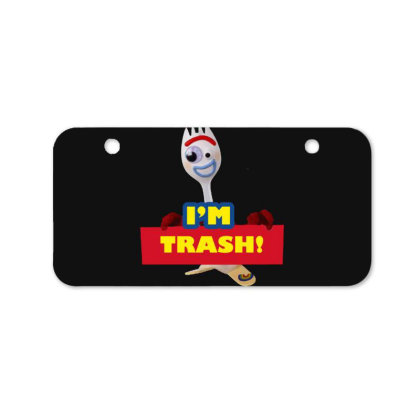 I'm Trash   Forkie Bicycle License Plate Designed By Pinkanzee