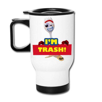 I'm Trash   Forkie Travel Mug Designed By Pinkanzee