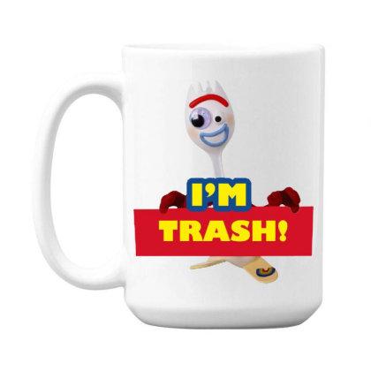 I'm Trash   Forkie 15 Oz Coffe Mug Designed By Pinkanzee