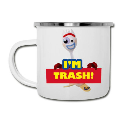 I'm Trash   Forkie Camper Cup Designed By Pinkanzee