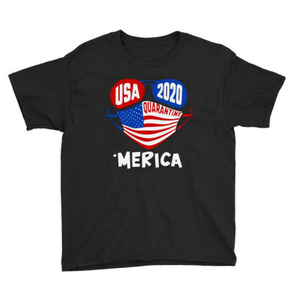 Usa 2020 4th Of July Merica Quarantine Youth Tee Designed By Tht