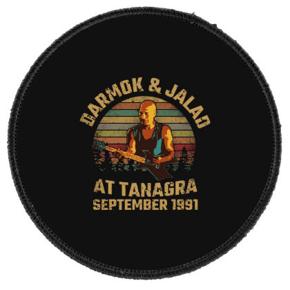 Darmok And Jalad At Tanagra Round Patch Designed By Pinkanzee
