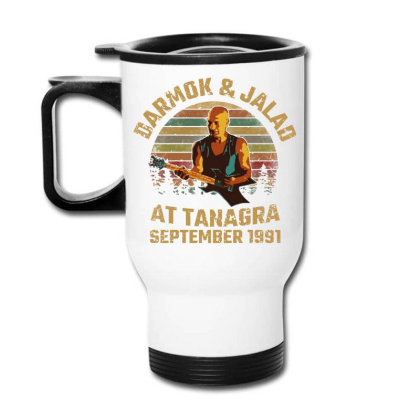 Darmok And Jalad At Tanagra Travel Mug Designed By Pinkanzee