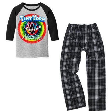 Adventure School Cartoon Worn Look Tv Show Youth 3/4 Sleeve Pajama Set Designed By Pinkanzee