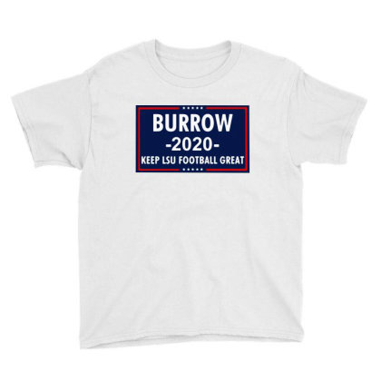 Vote Joe Burrow 2020 Youth Tee Designed By Tht