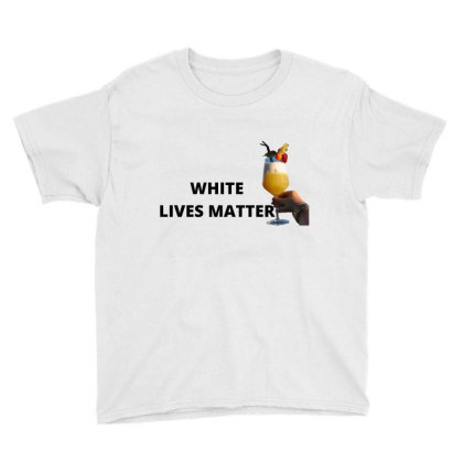 White Lives Matter Youth Tee Designed By Cuser3853