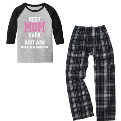 Best Ever Youth 3/4 Sleeve Pajama Set Designed By Pinkanzee