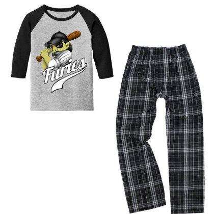 Baseball Youth 3/4 Sleeve Pajama Set Designed By Pinkanzee