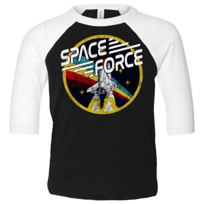 United States Space Force Vintage Toddler 3/4 Sleeve Tee Designed By Pinkanzee