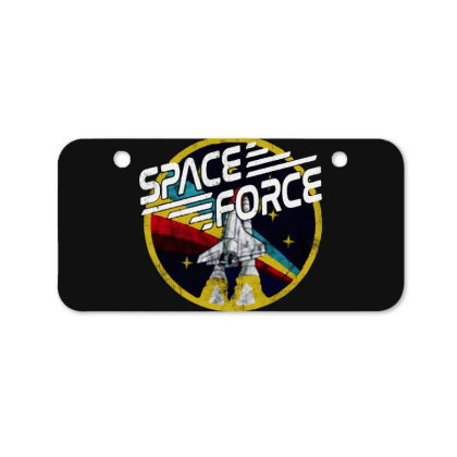 United States Space Force Vintage Bicycle License Plate Designed By Pinkanzee