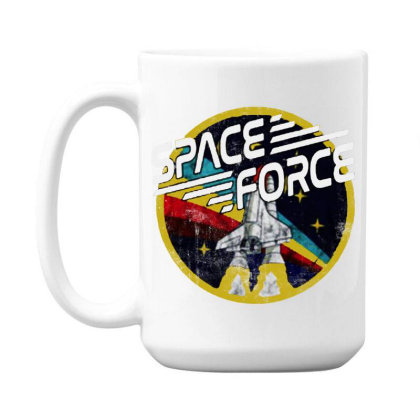 United States Space Force Vintage 15 Oz Coffe Mug Designed By Pinkanzee
