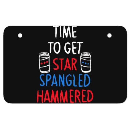 Time To Get Star Spangled Hammered Atv License Plate Designed By Pinkanzee