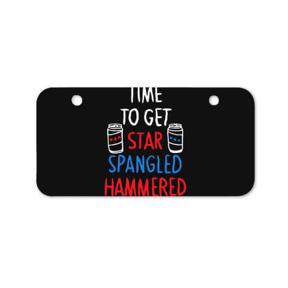 Time To Get Star Spangled Hammered Bicycle License Plate Designed By Pinkanzee