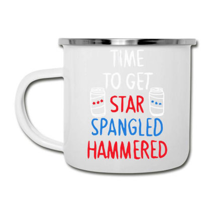 Time To Get Star Spangled Hammered Camper Cup Designed By Pinkanzee