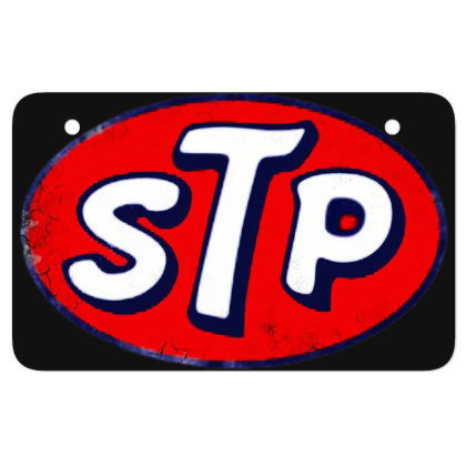 Stp Motor Oil Distressed Vintage Atv License Plate Designed By Pinkanzee