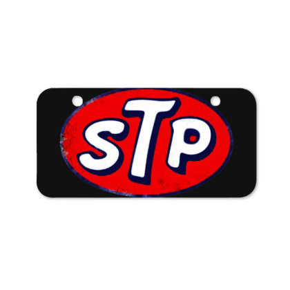 Stp Motor Oil Distressed Vintage Bicycle License Plate Designed By Pinkanzee