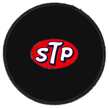 Stp Motor Oil Distressed Vintage Round Patch Designed By Pinkanzee