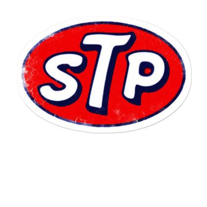 Stp Motor Oil Distressed Vintage Sticker Designed By Pinkanzee
