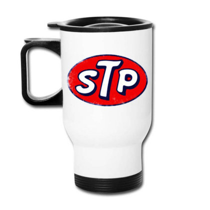 Stp Motor Oil Distressed Vintage Travel Mug Designed By Pinkanzee