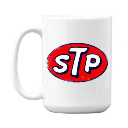 Stp Motor Oil Distressed Vintage 15 Oz Coffe Mug Designed By Pinkanzee
