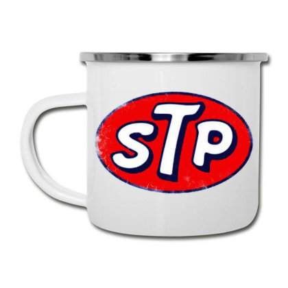 Stp Motor Oil Distressed Vintage Camper Cup Designed By Pinkanzee