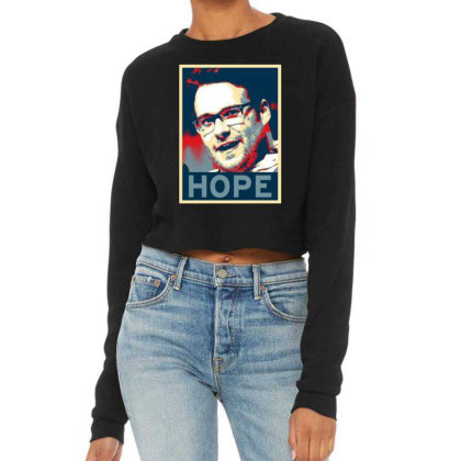 Hope Poster Cropped Sweater Designed By Pinkanzee