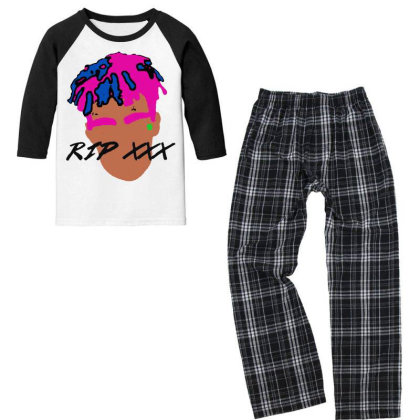 Rest In Peach 1998 2018 Tees Youth 3/4 Sleeve Pajama Set Designed By Pinkanzee
