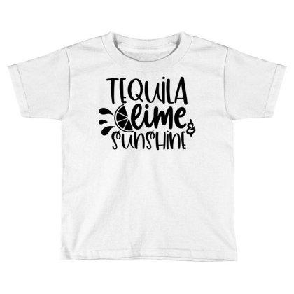 Tequila Lime & Sunshine Toddler T-shirt Designed By Purpleblobart
