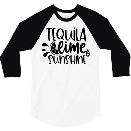 Tequila Lime & Sunshine 3/4 Sleeve Shirt Designed By Purpleblobart