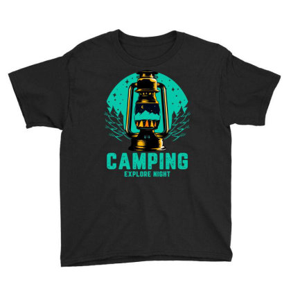Camping Explore Youth Tee Designed By Badaudesign