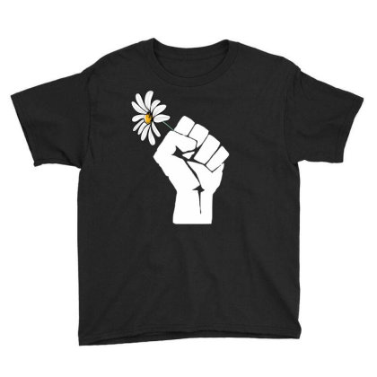Flower Power Hand Youth Tee Designed By Badaudesign