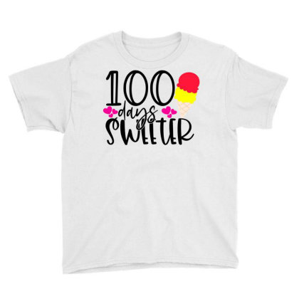 100 Days Sweeter Youth Tee Designed By Purpleblobart