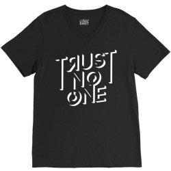 trust no one V-Neck Tee | Artistshot